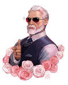 Bloochikin — deviantart:  When in doubt, draw a cool grandpa. ...