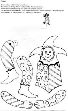 Aa acrobat craft activity for Letter of the Week