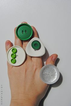 Rings by Chiara Trentin   Green, White