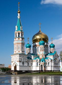 The Assumption Cathedral in Omsk, Russia. Via admomsk.ru