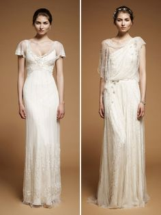 Feesk Sandals Blog: Jenny Packham fall 2012 - Wedding Inspiration - I like the one on the right...