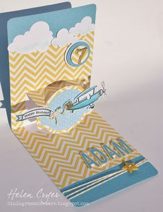Awesome Pop 'n Cuts card by Helen Cryer using the @Sizzix PNC Base die designed by @Karen Burniston.