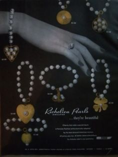 1951-Vintage-RICHELIEU-SIMULATED-PEARL-JEWELRY-Ad