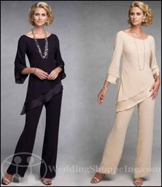 mother of the bride pant suits with boots - Google Search