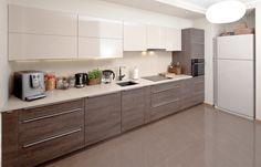 Kuchnie nowoczesne Ikea Kitchen Design, New Kitchen Designs, Kitchen Cabinet Styles, Modern Kitchen Cabinets, Modern Kitchen Design, Home Decor Kitchen, Interior Design Kitchen, Kitchen Layout Plans, Open Plan Kitchen Living Room