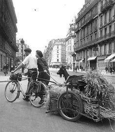 Robert Doisneau  A goat in a city in France #goatvet wonders if it is Paris