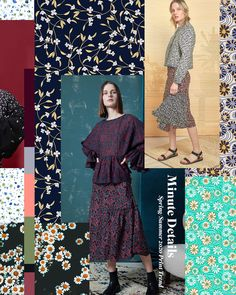 Spring/Summer 2020 Print & Pattern Trend – Minute Details – 2020 Fashions Womens and Man's Trends 2020 Jewelry trends 2020 Fashion Trends, Spring Fashion Trends, Summer Fashion Outfits, Fashion 2020, Autumn Fashion, Spring Summer Trends, Fashion Ideas, Color Patterns, Print Patterns
