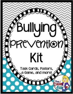This 42 page unit is packed with activities and information to help you directly teach bullying awareness and prevention to your students in an engaging way. It includes 32 scenario task cards, a game, a survey, questionnaires, and more. (TpT Resource)