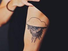 cloud tattoo via Tattoologist