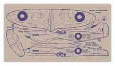 Card № 16 — BRITISH SUPERMARINE SPITFIRE