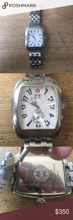 SALE ENDS WEDS 💸 Michele large Urban Watch Pre-owned- see photos. Needs new battery. Once battery is replaced, it'll work just fine! Love this watch, just rarely wear silver. Michele Accessories Watches