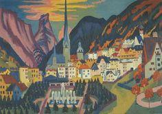 """Davos in Summer"" - Ernst Ludwig Kirchner (1925), Kirchner Museum, Davos, Switzerland"