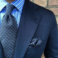 Well-attired in blue