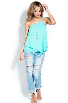 Lilly Top in Greek Turquoise