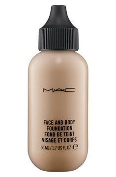 M·A·C Face & Body Foundation | Nordstrom. My shade is N1, This bottle used to come in a size that was about 4 times larger and was only sold in the MAC free-standing stores, for about the same price. Too bad. But this is my favorite foundation because it looks so natural.