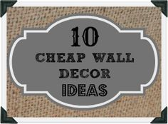 Cheap Wall Decor framed placemats make for cheap wall art. i got these placemats at