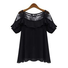 Aliexpress.com: DRESSVCOMより信頼できる ブラウス&シャツ サプライヤから新しいブランドのカジュアル緩い2015夏のレースの女性のブラウスかぎ針編みblusasfemininaセクシー半袖トップスプラスのサイズの女性服を購入します