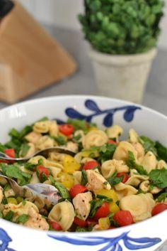 Balsamic Chicken, Spinach & Tomato Pasta Salad