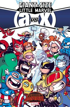You thought Avengers vs. X-Men was epic? You ain't seen nothin' yet! This June, superstar writer/artist Skottie Young (Rocket Raccoon) brings his inimitable style to the Battleworld brawls for GIANT-SIZE LITTLE MARVEL: AVX #1 – a new Secret Wars series!