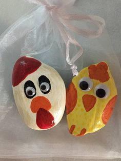 Hand painted Lake Superior stones set of two