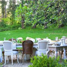 Outdoor Garden Party Inspiration woodland shabby chic style