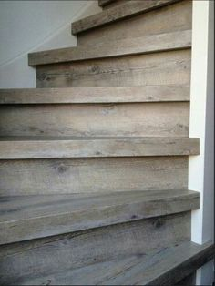 staircase for a beach house Wood Staircase, Wooden Stairs, Basement Stairs, House Stairs, Stairway To Heaven, Stair Treads, Stairways, My Dream Home, Interior And Exterior