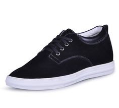 custom increase your height shoe - Black men elevator casual shoes grow taller 6cm / 2.36inches from Topoutshoes store