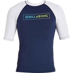 Billabong Mens All Day Raglan Regular Fit Short Sleeve Rashguard Navy Medium ** Details on product can be viewed by clicking the VISIT button