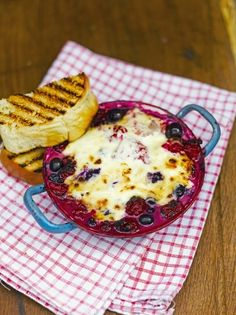 Baked Berries with Brandy and Mascarpone