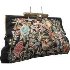 1920s Chinese Silk Embroidered Purse by LKW  -- found at www.rubylane.com #vintagebeginshere #monthlyfinds