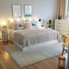 Ikea bett, ikea bedroom, home bedroom, bedroom wall, bedroom decor on a b. Room Ideas Bedroom, Home Bedroom, Bedroom Furniture, Bedroom Decor, Bed Rooms, Bedroom Wall, Nursery Ideas, Budget Bedroom, Master Bedrooms