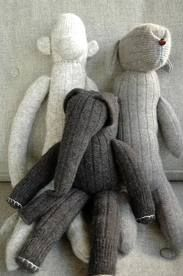 Zelfgemaakte knuffels van sokken!