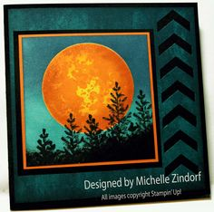 Open Sea Moon Reflection – Stampin' Up! Card |