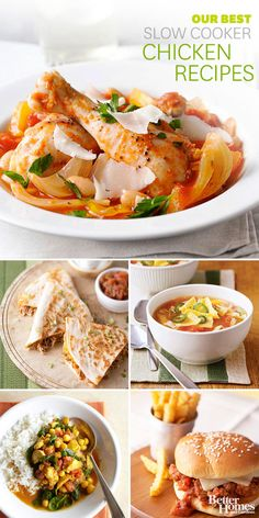 For an easy dinner with bold flavor, try one of our best slow cooker chicken recipes: http://www.bhg.com/recipes/slow-cooker/chicken/our-best-slow-cooker-chicken/?socsrc=bhgpin092413slowcookerchicken