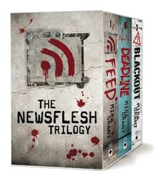 Newsflesh Trilogy Boxed Set by Mira Grant -repinned The science might be a little thin, and there are no graphic descriptions of the zombies for those who crave that sort of thing, but a really interesting near future story with great, gritty, realistic characters, and interesting twists, that happens to have zombies, bloggers, a very serious virus and more fun stuff :)
