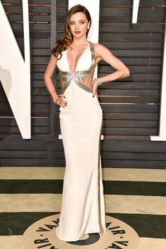 Miranda Kerr attends the 2015 Vanity Fair Oscar Party hosted by Graydon Carter at Wallis Annenberg Center for the Performing Arts on Feb. 22, 2015, in Beverly Hills, California, wearing custom Emilio Pucci.   - Redbook.com