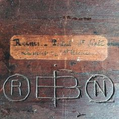 """Verso of wood relief carving with maker's-mark. """"Reims - Portal St. Sixte, La Mort de St. Nicasius #Colondannes  (at Lac D' Éguzon)"""