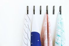 clothes pins - for hanging scarfs?