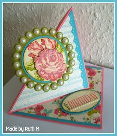 Rosy Twisted Easel Birthday Card