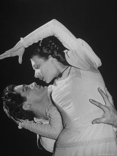 """Hugh Laing and Nora Kaye in Antony Tudor's """"Pillar of Fire."""" Photo by Alfred Eisenstaedt."""