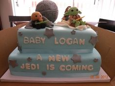 star wars baby shower cake... Love it! should of had this cake at my baby shower for logan x
