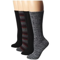 Steve Madden 4 Pack Marl and Solid Boot Sock Women's Knee High Socks ($28) ❤ liked on Polyvore featuring intimates, hosiery, socks, knee hi socks, marled socks, stripe socks, steve madden socks and striped knee socks