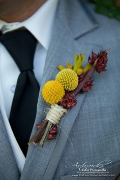 Rustic Wedding Boutonniere - The French Bouquet - Artworks Tulsa Photography