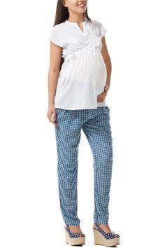 Modaya uygun dar kesim desenli Defacto hamile pantolonu
