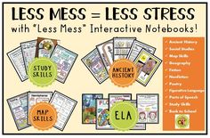 """Actively engage your students with creative activities from my """"Less Mess""""…"""