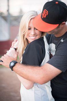 Baseball theme engagement - could def incorporate the cap. Baseball Engagement Photos, Baseball Couples, Engagement Shots, Engagement Couple, Engagement Pictures, Cute Couples, Baseball Clothes, Baseball Boyfriend, Baseball Guys