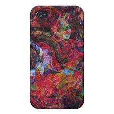 Red Abstract iPhone 4/4S Case on buy-the-new.com