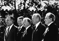 My mom cut this same photo out of a magazine once, and when I asked why, she just said she found it interesting to see 5 Presidents together.