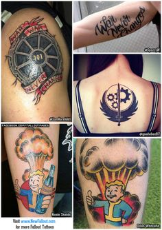 Looking for Fallout tattoo ideas? fallout fallout tattoos fallout tattoo vault boy tattoo vault boy tattoos bos tattoo vault tattoo