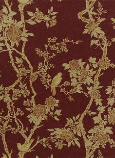 Tapete Marlowe Floral von Ralph Lauren - Garnet